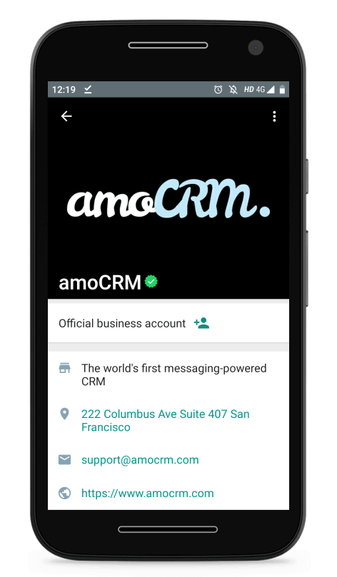 Whatsapp Business Account Features Amocrm